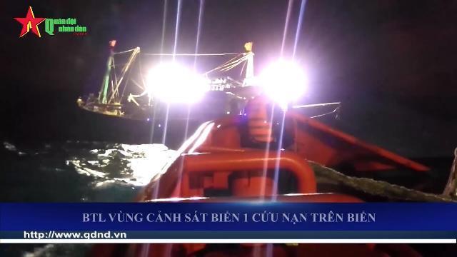 Tàu Cảnh sát biển 9004 cứu tàu cá gặp nạn