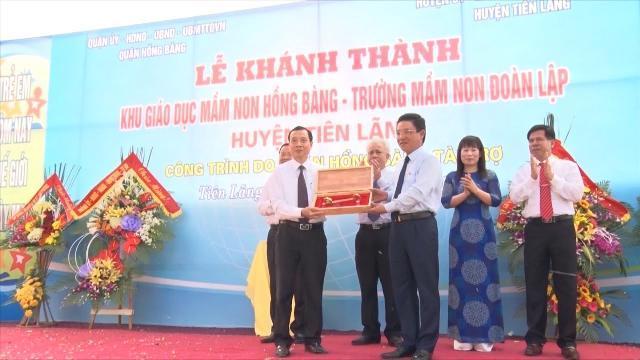 Hải Phòng khánh thành Khu giáo dục mầm non tặng xã khó khăn xây dựng nông thôn mới