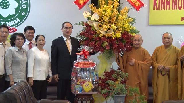 Đồng chí Nguyễn Thiện Nhân thăm, chúc mừng Lễ Phật đản tại TP. Hồ Chí Minh