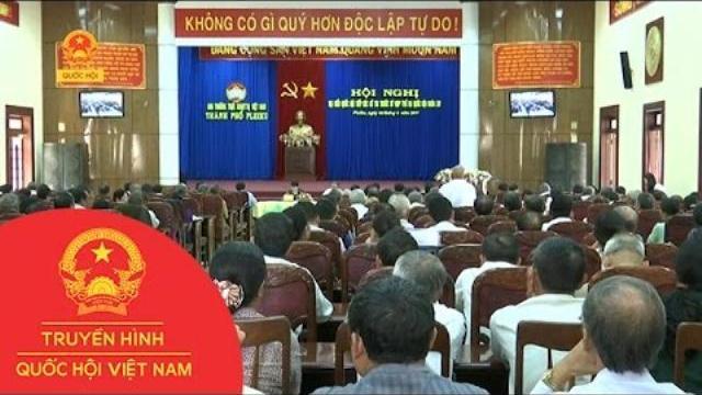 Thời sự - Đoàn Đại biểu Quốc hội tỉnh Gia Lai tiếp xúc cử tri