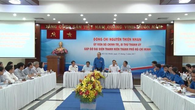 Đồng chí Nguyễn Thiện Nhân gặp gỡ đại diện thanh niên TP. Hồ Chí Minh