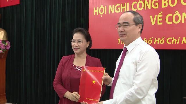 Đồng chí Nguyễn Thiện Nhân được phân công làm Bí thư Thành ủy TP. Hồ Chí Minh