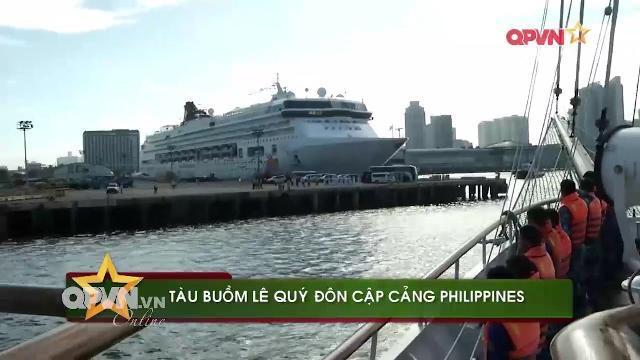 Tàu buồm Hải quân Việt Nam cập cảng Manila thăm Philippines
