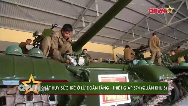 Kíp xe thanh niên ở Lữ đoàn Tăng thiết giáp 574, QK5
