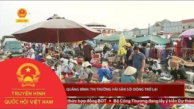 Thời sự - Quảng Bình: Thị trường hải sản sôi động trở lại