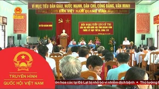 Đoàn Đại biểu Quốc hội tỉnh Quảng Bình tiếp xúc cử tri |Thời sự |THQHVN |