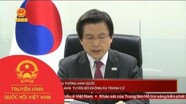 Thời sự - Quyền Tổng thống Hàn Quốc Hwang Kyo-Ahn tuyên bố không ra tranh cử