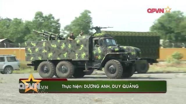 Việt Nam bẳn thử pháo tự hành 105mm và súng 12,7 mm trên xe Ural thế hệ M3