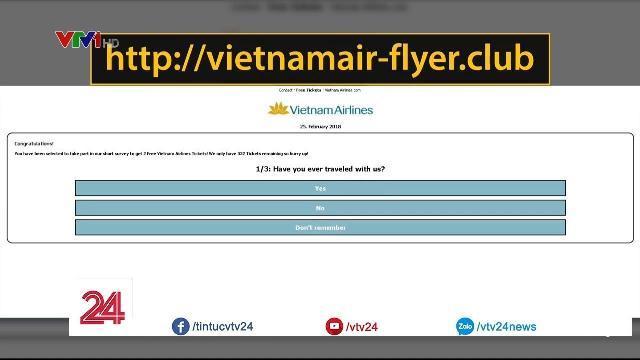 Giả mạo Vietnam Airlines để lấy cắp thông tin cá nhân - Tin Tức VTV24