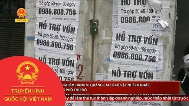 Thời sự - Cần xử lý nghiêm hành vi quảng cáo, rao vặt nhếch nhác trên đường phố Thủ đô