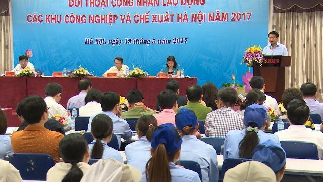 Chủ tịch UBND TP. Hà Nội đối thoại trực tiếp với người lao động