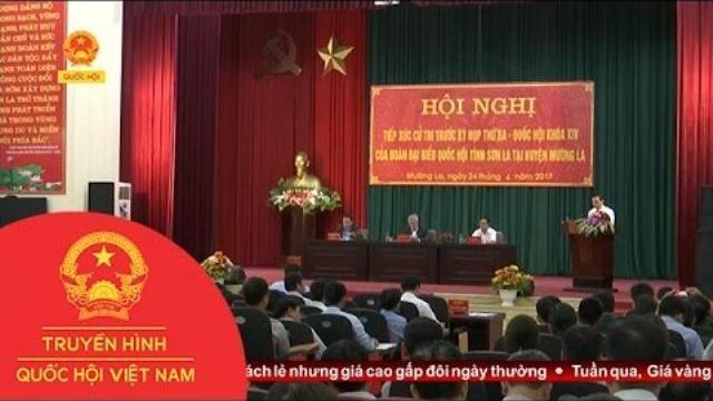 thời sự - Đoàn ĐBQH tỉnh Sơn La tiếp xúc cử tri huyện Mường La