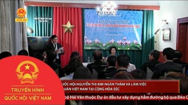 Thời sự - Chủ tich Quốc hội và làm việc với Đại sứ quán Việt Nam tại Cộng Hòa Séc