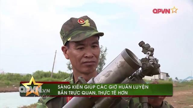 Súng cối bắn đạn hơi độc đáo trong huấn luyện chiến đấu ở Bạc Liêu