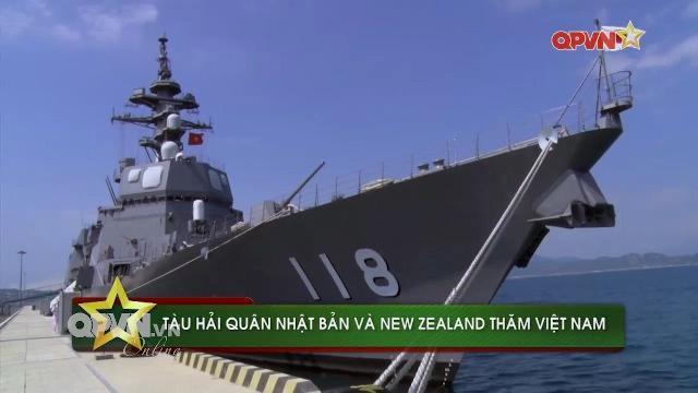Tàu Hải quân Nhật Bản và New Zealand đồng loạt thăm Việt Nam