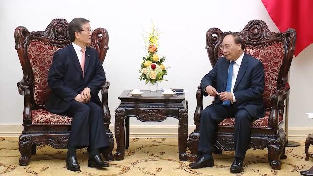 Thủ tướng tiếp Chủ tịch kiêm Tổng Giám đốc Ngân hàng Phát triển Hàn Quốc