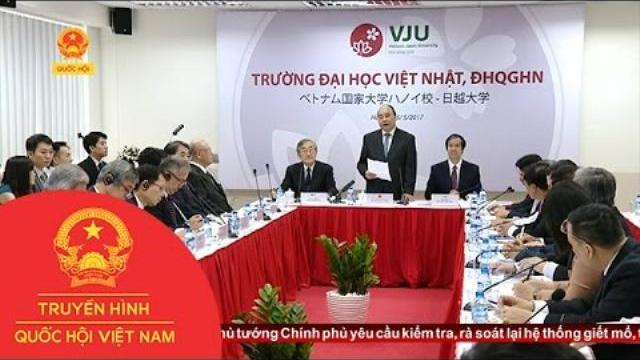 Thủ tướng làm việc với Đại học Việt - Nhật |Thời sự | THQHVN |