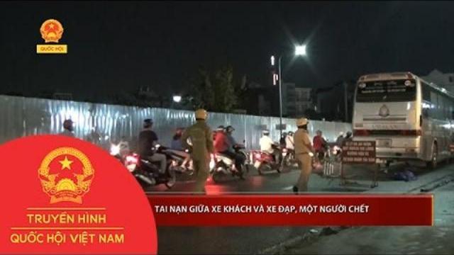 Tai nạn giữa xe khách và xe đạp, một người chết