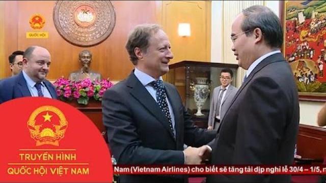 Thời sự - Chủ Tịch UBTW MTTQ Việt Nam Tiếp Trưởng Phái Đoàn Liên Minh Châu Âu