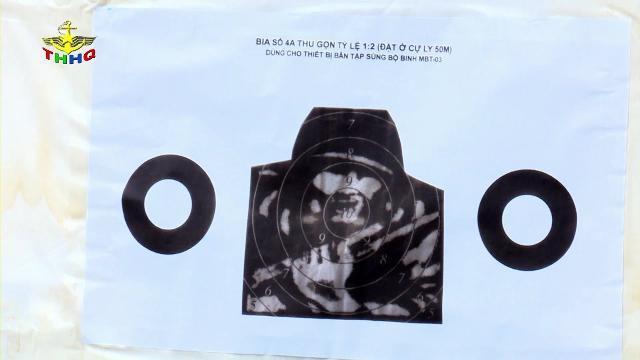Bia điện tử luyện bắn súng cho học sinh sinh viên