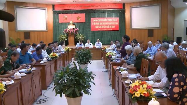Đồng chí Nguyễn Thiện Nhân gặp gỡ cán bộ hưu trí, Hội CCB quận 10