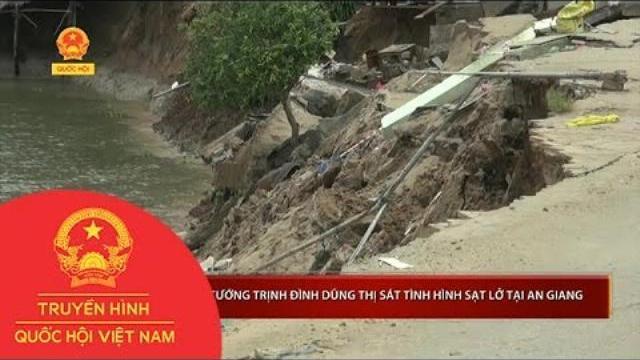 Phó Thủ tướng Trịnh Đình Dũng thị sát tình hình sạt lở tại An Giang |Thời sự | THQHVN