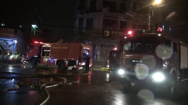 Cháy lớn tại ngân hàng VPBank chi nhánh Quảng Bình
