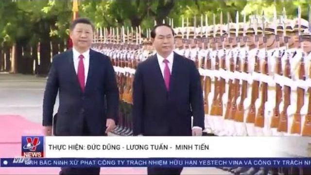 [Video] Lễ đón Chủ tịch nước Trần Đại Quang thăm Trung quốc