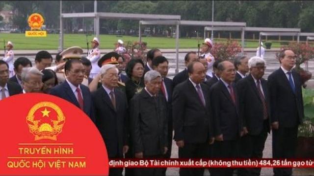 Lãnh đạo Đảng, Nhà nước viếng Lăng Chủ tịch Hồ Chí Minh | Thời sự | THQHVN