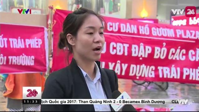 Người Dân Chung Cư Hồ Gươm Plaza Phản Đối Chủ Đầu Tư Xây Bể Phốt Trong Tầng Hầm   VTV24