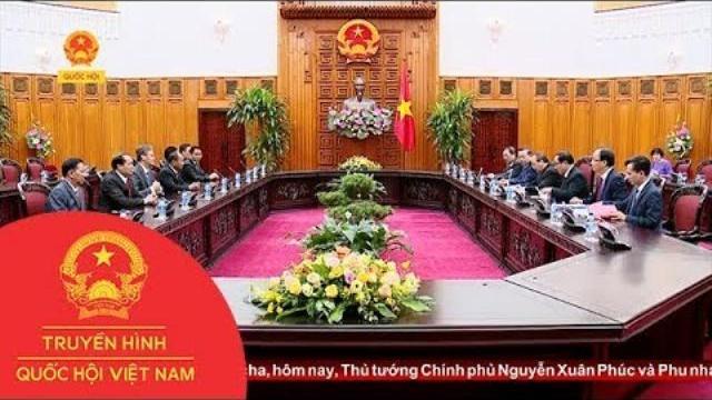 Thủ tướng Nguyễn Xuân Phúc tiếp Bộ trưởng An ninh Lào   Thời Sự   THQHVN