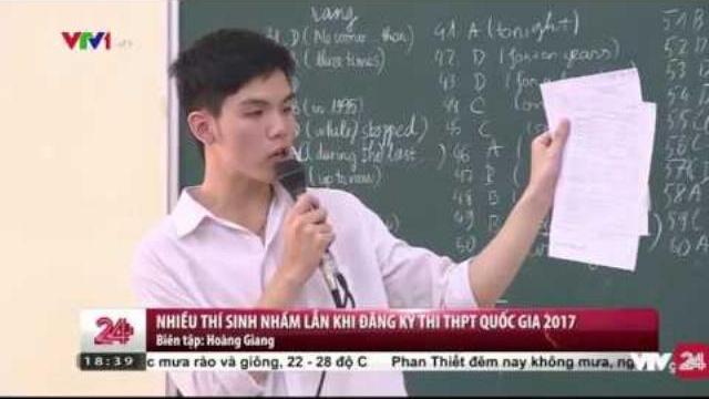 Thí sinh đăng kí dự thi THPT cần đặc biệt lưu ý | VTV24