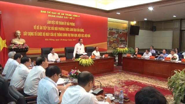 Phó Thủ tướng Thường trực Chính phủ Trương Hòa Bình làm việc tại Hải Phòng