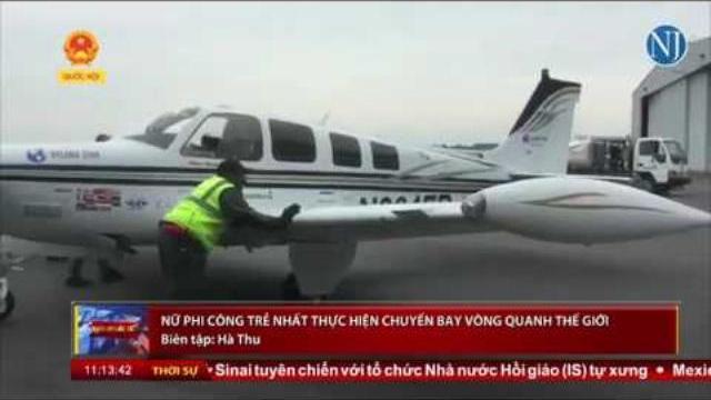 Nữ phi công trẻ nhất thực hiện chuyến bay vòng quanh thế giới | Thời sự | THQHVN