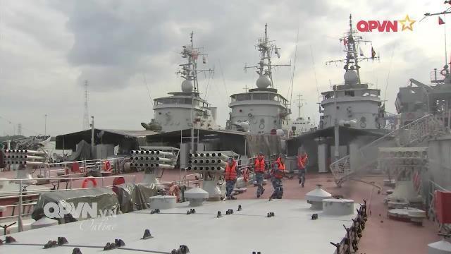 Phòng chống cháy nổ tại các căn cứ Hải quân Việt Nam