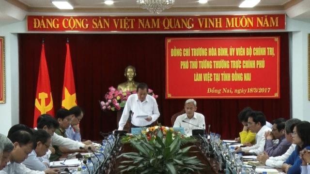 Tin Tức 24h: Phó Thủ tướng Trương Hòa Bình làm việc tại Đồng Nai