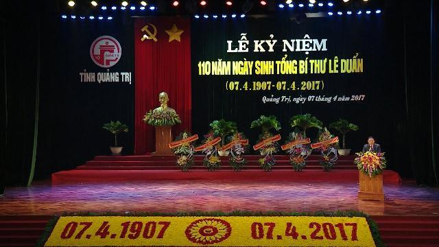 Lễ kỷ niệm 110 năm Ngày sinh đồng chí Tổng Bí thư Lê Duẩn (7/4/1907 - 7/4/2017)