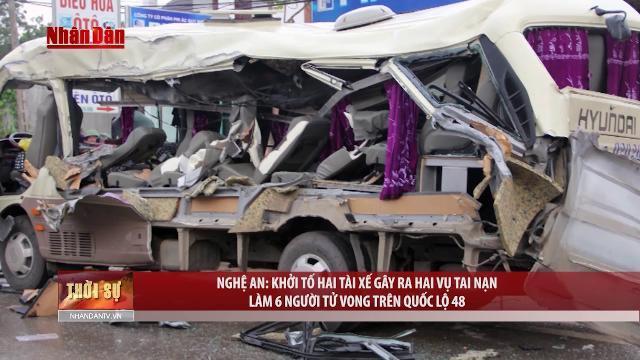 Nghệ An khởi tố hai tài xế gây ra hai vụ tai nạn làm 6 người tử vong trên quốc lộ 48