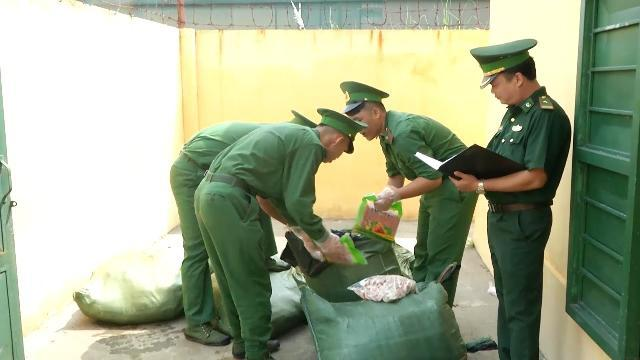 Lào Cai bắt giữ hơn 200 kg thực phẩm trái phép từ Trung Quốc