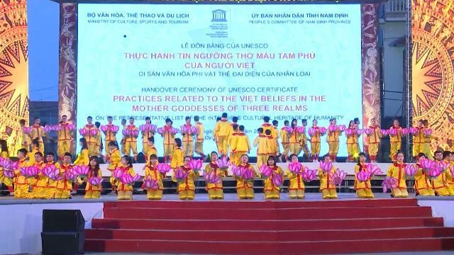 Sẵn sàng cho lễ đón bằng công nhận của UNESCO về tín ngưỡng thờ Mẫu Tam phủ