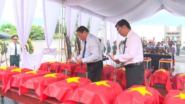 Quảng Trị tổ chức lễ truy điệu và an táng 21 hài cốt liệt sĩ hy sinh tại Lào