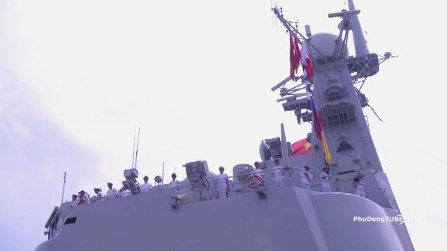 Biên đội tàu Hải quân Trung quốc thăm TP Hồ Chí Minh & Quân khu 7