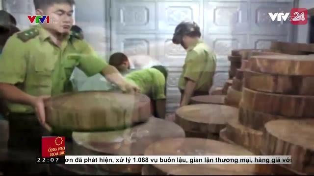 Thu giữ lượng lớn gỗ nghiến không rõ nguồn gốc   VTV24
