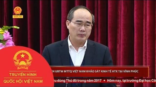 Thời sự - Chủ tịch Ủy ban Trung ương MTTQ Việt Nam khảo sát kinh tế HTX tại Vĩnh Phúc