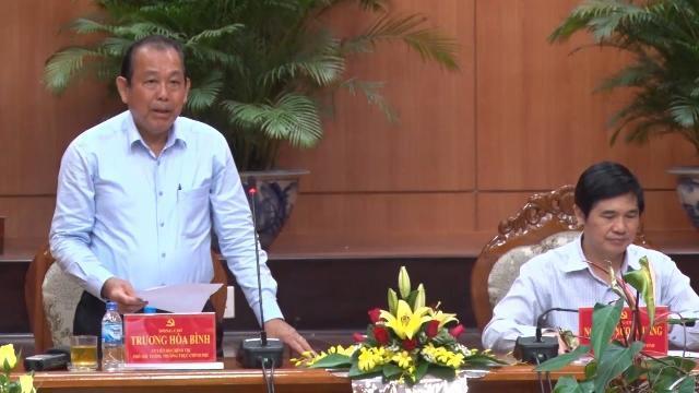 Đoàn kiểm tra của Bộ Chính trị làm việc với Ban Thường vụ Tỉnh ủy Quảng Nam