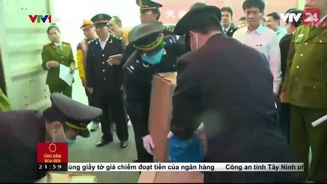 Thu giữ 2,5 tấn lá khô nghi là ma túy | VTV24