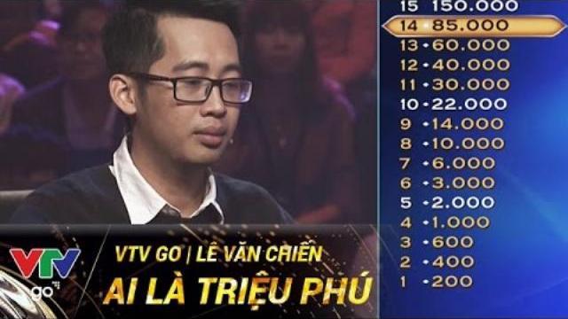 LÊ VĂN CHIẾN | AI LÀ TRIỆU PHÚ | 18/04/2017 | VTV GO