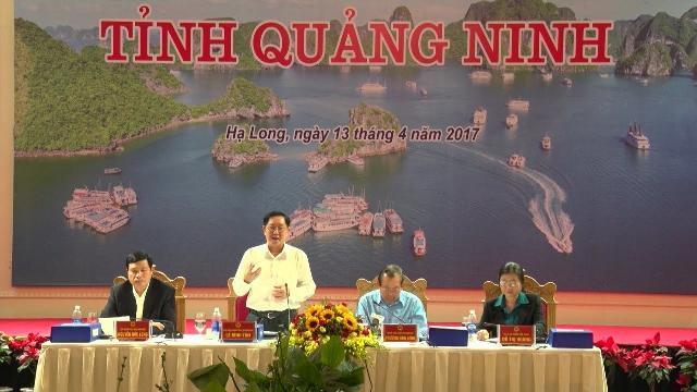 Phó Thủ tướng Trương Hòa Bình làm việc tại tỉnh Quảng Ninh