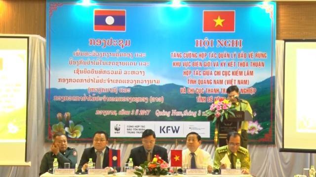 Ký kết hợp tác quản lý, bảo vệ rừng và lâm sản vùng giáp ranh giữa tỉnh Quảng Nam và Sê Kông