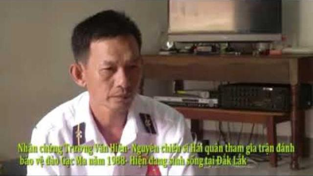 Nhân chứng Trương Văn Hiền từng tham gia trận chiến Gạc Ma